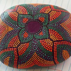 Art Deco Painted Dot Rock by JandEDesigns on Etsy, $45.00