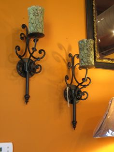 Katherine Sconce with Art Glass - by Laguna Furnishings - Accessories, Gifts & More in Westlake Village CA - http://www.lagunafurnishings.com/catalog/accessories