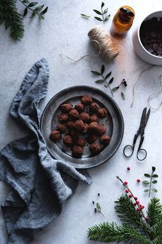 Truffes au Chocolat, Praliné et Miel