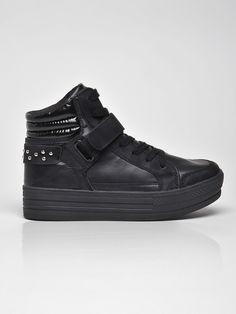 Pantofi Top Secret Black - Top Secret - www. Top Secret, Troll, All Black Sneakers, Black Tops, Casual, Sport, Collection, Easter, Fashion
