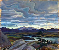 McGregor Bay, 1935 Franklin Carmichael Oil on wood panel Overall: x 29 cm Gift from the J. McLean Collection, by Canada Packers Inc., 1990 © 2013 Art Gallery of Ontario Canadian Painters, Canadian Artists, Landscape Art, Landscape Paintings, Landscapes, Emily Carr Paintings, Franklin Carmichael, Group Of Seven Paintings, Tom Thomson Paintings