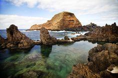 Piscina natural en Porto Santo, Madeira.