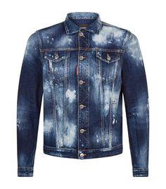 Destroyed Denim Jacket In Blue Denim Jacket Fashion, Denim Jacket Men, Denim Jeans, Denim Jackets, Outfit Jeans, Destroyed Denim Jacket, Double Denim, Denim Trends, Jean Outfits