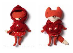 Maileg / Little red riding hood fox doll http://knuffelsalacarteblog.blogspot.nl/2014/09/once-upon-time.html