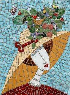 beautiful hat!  Love the mosaic!