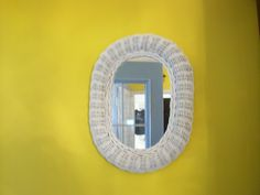 Oval White Wicker Mirror by SashaAzreal on Etsy