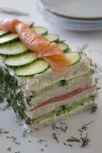 Bread cake with salmon and cucumber - Brenda Cooks - Breadcake with salmon and cucumber - Tea Sandwiches, Sandwich Cake, Salmon Sandwich, Cooking Recipes, Healthy Recipes, Snacks, Appetisers, High Tea, Food Inspiration