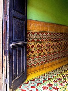 tiled foyer