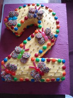 Creative Cake Decorating For A Kid's Birthday Girls 2nd Birthday Cake, 2 Year Old Birthday Cake, Toddler Birthday Cakes, Number Birthday Cakes, Butterfly Birthday Cakes, Butterfly Cakes, Birthday Ideas, Butterflies, Creative Cake Decorating