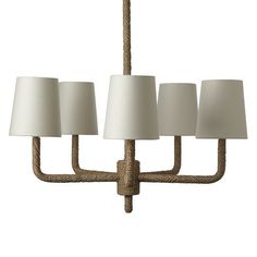Rope Chandelier | west elm : an oldie but goodie -- it's on sale!