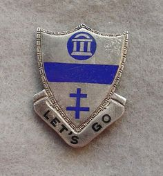US Army 325th Glider Infantry Airborne 82nd Div pin DI DUI CREST PB  Sterling