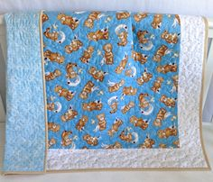 Baby Quilt featuring Teddy Bears Baby Quilt by KimsQuiltingStudio