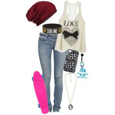 I love this outfit almost to much. I need to learn how to skateboard.....