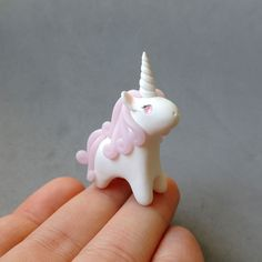 Pink Rose Quartz Gemstone Unicorn Figure by cbexpress on Etsy #etsy #pink…