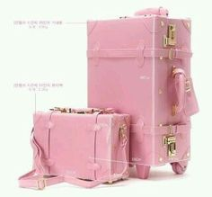 Pink Hard Suitcases