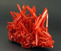 Crocoite is a rare mineral that was first discovered in 1766 in the Ural Mountains of Russia.
