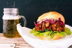 Vegan Pulled Pork-Sandwich aus Jackfruit   eat this! Das vegane Rezepte-Blog