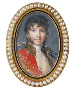 Jean-Baptiste Isabey  -   NANCY 1767 - 1855 PARIS -   PORTRAIT OF JOACHIM MURAT, MARSHAL OF THE EMPIRE GRAND DUKE OF BERG AND CLÈVES, KING OF NAPLES (1767-1815)