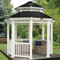 Paula Kruse - Home n business - Suncast 12-Feet by 12-Feet Double Roof Gazebo, White