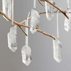 Quartz Crystal & Gold-Tipped Ornaments More