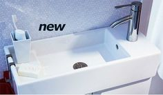 This small sink hooks up to your toilet bowl tank, saving you space and water. From Ikea's 2012 Catalog (sorry--it's no longer new!). | Tiny Homes