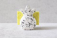 Pineapple Sponge Holder Pineapple Napkin Holder by PotteryLodge