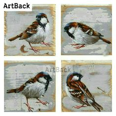 Online Shop New Full square drill diamond painting bird pattern diamond embroidery sparrow mosaic artwork plaster embroidery Cross Paintings, Animal Paintings, Watercolor Bird, Watercolor Paintings, Mosaic Artwork, Bird Patterns, Pallet Art, Bird Pictures, Wildlife Art