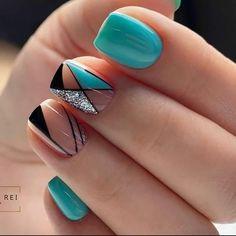 Semi Permanente, Nail Designs, Hair Beauty, Make Up, Nail Art, Turquoise, Nails, Gemstones, Style