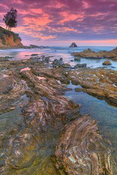 Corona Del Mar Tide Pools | Corona Del Mar - Arch Rock And Tide Pools - Sunset - HDR | Bill ...