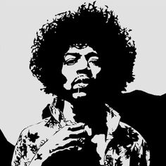 Jimi Hendrix by on DeviantArt Airbrush, White Art, Black And White, Stencil Art, Pyrography, Rock Art, Rock And Roll, Graffiti, Portraits
