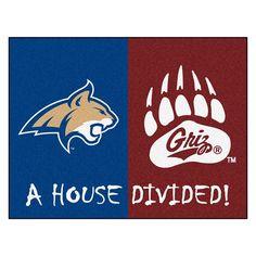 Montana Grizzlies-Montana State Bobcats NCAA House Divided All-Star Floor Mat (34x45)