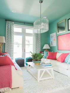 turquoise media room | HGTV Dream Home 2016