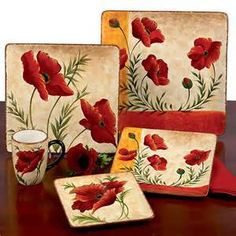 Poppies Kitchen Canister Set Kitchen Theme Ideas Pinterest Canister Sets Kitchen
