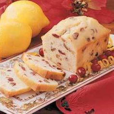 Lemon-Cranberry Mini Loaves Recipe