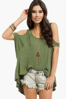 Making the Cut Out Top in Olive