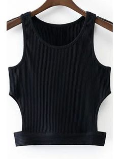 SHARE & Get it FREE   Black Round Collar Cut Out Cropped Tank TopFor Fashion Lovers only:80,000+ Items • New Arrivals Daily Join Zaful: Get YOUR $50 NOW!