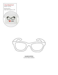 Free Glasses Pattern Download #template