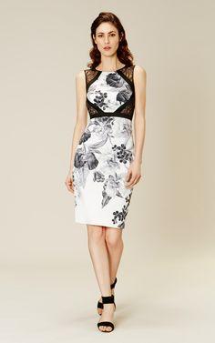 Karen Millen Floral-print pencil dress