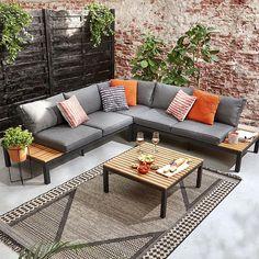 Diy Furniture Sofa, Garden Furniture, Furniture Design, Outdoor Furniture, Outdoor Decor, Garden Seating, Terrace Garden, Outdoor Life, Outdoor Living