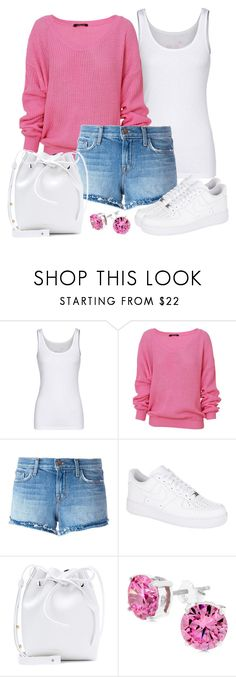 """Untitled #1456"" by gallant81 ❤ liked on Polyvore featuring Juvia, J Brand, NIKE, Mansur Gavriel and Kate Bissett"