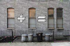 Mathematical street art, by Aakash Nihalani
