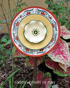Plate flower.  She has lots of cute things on her website.