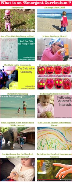 Than Pretty: Creative Arts as a Language of Learning What are the important principles guiding an Emergent Curriculum?What are the important principles guiding an Emergent Curriculum? Learning Stories, Play Based Learning, Project Based Learning, Early Learning, Preschool Activities, Kids Learning, Early Education, Early Childhood Education, Kids Education