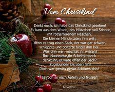 """illustriertes Gedicht """"Vom Christkind"""" von A. Ritter"""