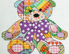 Patchwork Butterfly Cross Stitch Pattern. PDF by Chartsandstuff