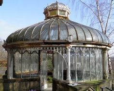 Ahhh! Glass and plants and light and intricate metal work, is there anything not to love? Abandoned Victorian glass house