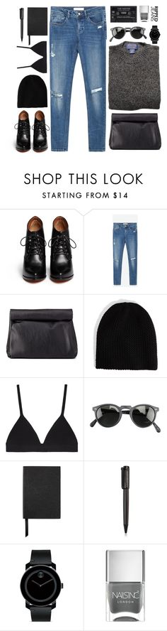 """Ripped jeans"" by elly3 ❤ liked on Polyvore featuring Givenchy, Zara, Charlotte Russe, Proenza Schouler, Oliver Peoples, Smythson, Harley-Davidson, Movado, Nails Inc. and rippedjeans"