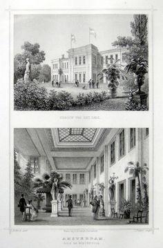 Amsterdam-Park en Wintertuin | Herkomst : J.L. Terwen - Het Koningrijk der Nederlanden, afm. 14 x 20 cm Staalgravure 1860
