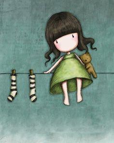 Hang Me Up To Dry - Suzanne Woolcott(gorjuss)...  Kai Fine Art