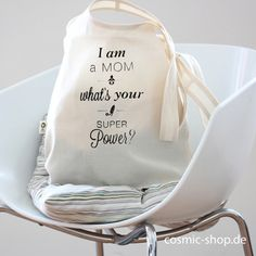 I am a mom whats your superpower? cotton bag